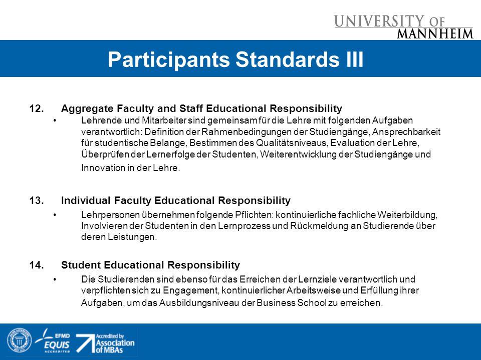 12.Aggregate Faculty and Staff Educational Responsibility Lehrende und Mitarbeiter sind gemeinsam für die Lehre mit folgenden Aufgaben verantwortlich: