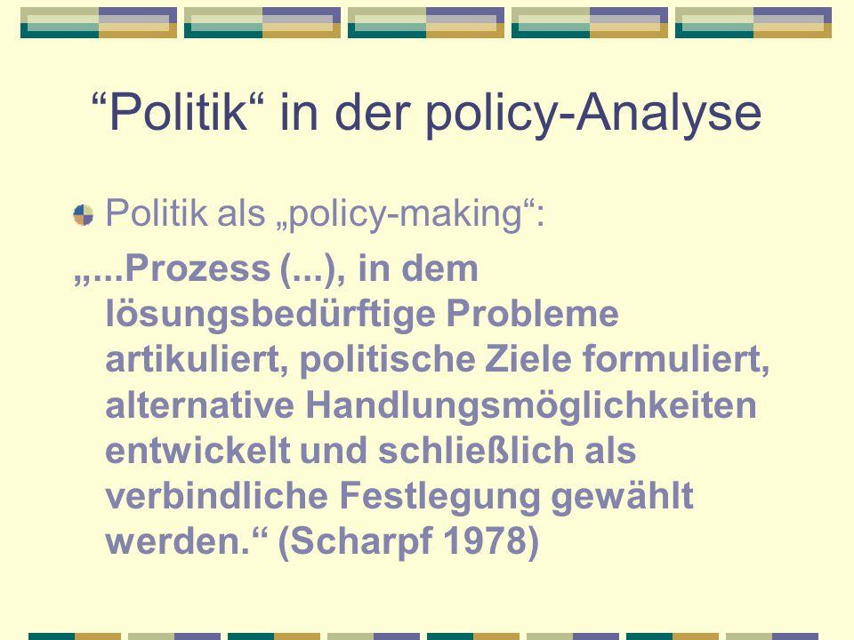 Wann entstand die policy- Analyse.