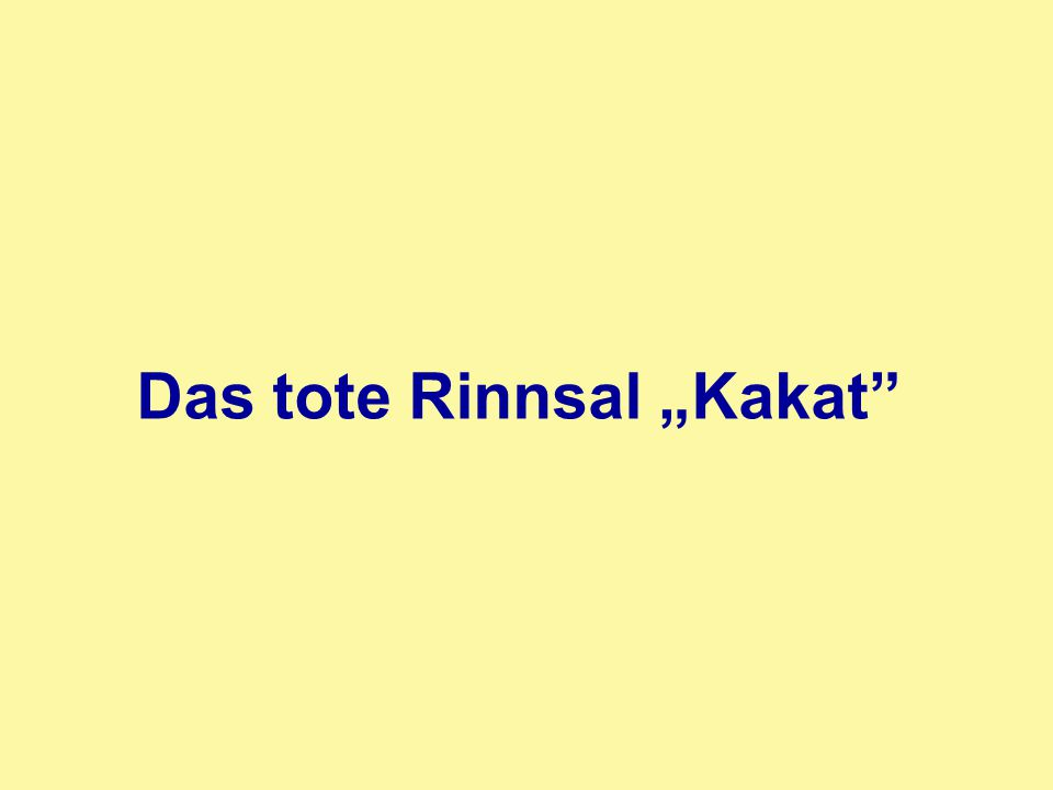 "Das tote Rinnsal ""Kakat"""