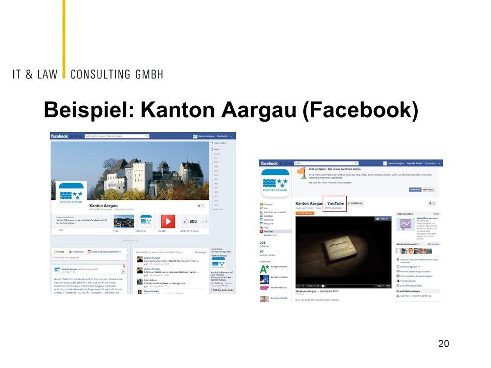 Beispiel: Kanton Aargau (Facebook) 20