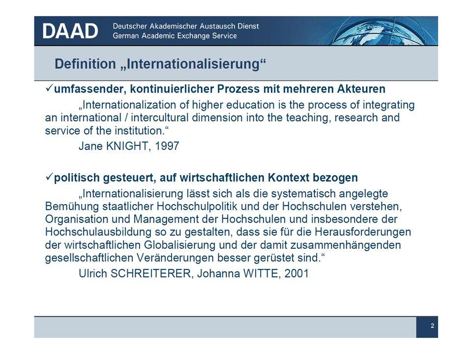 """Internationales Hochschul- und Forschungsmarketing 33 Im Rahmen der Kampagne """"Study in Germany – Land of Ideas informiert der DAAD über den Studienstandort Deutschland (www.study-in.de)."""