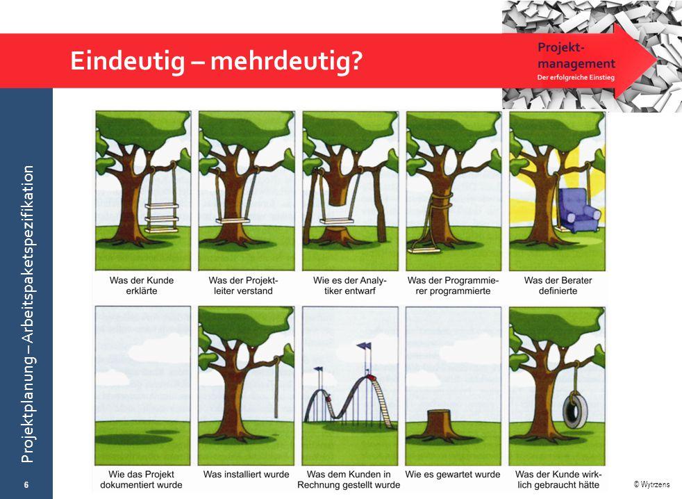 © Wytrzens Projektplanung – Arbeitspaketspezifikation Eindeutig – mehrdeutig? 6