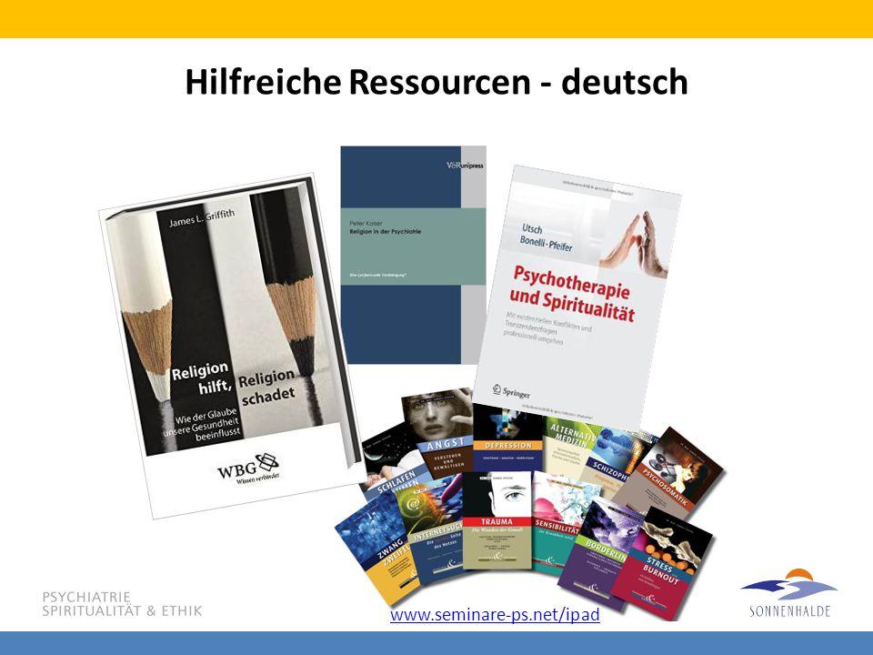 Hilfreiche Ressourcen - deutsch www.seminare-ps.net/ipad