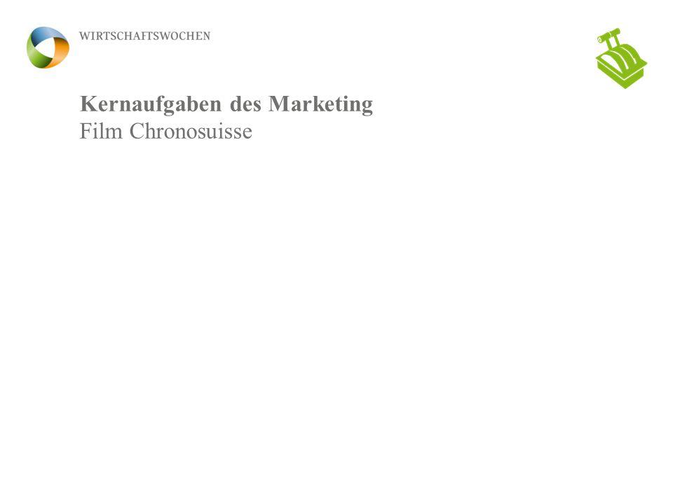 Kernaufgaben des Marketing Film Chronosuisse