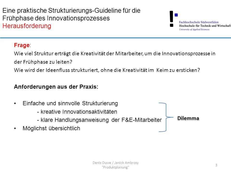 Strukturierungsansatz: Sequenzielle Modelle Sequenziell ablaufender Prozess der Ideengenerierung, Ideenbewertung und der Innovationskonzeptentwicklung (z.B.