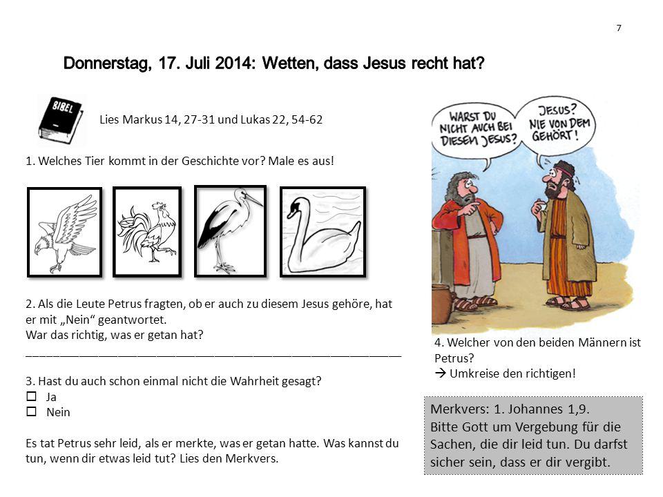 8 Johannes 20, 1-10 Was bisher geschah...1.Erzählt einander was auf den einzelnen Bildern geschah.