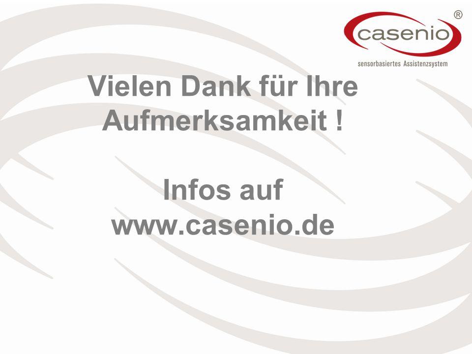 Vielen Dank für Ihre Aufmerksamkeit ! Infos auf www.casenio.de