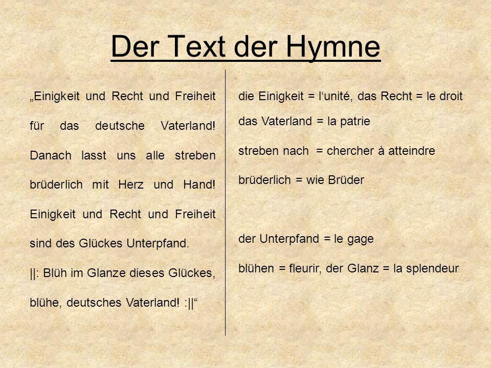 die Hymne = die 3.