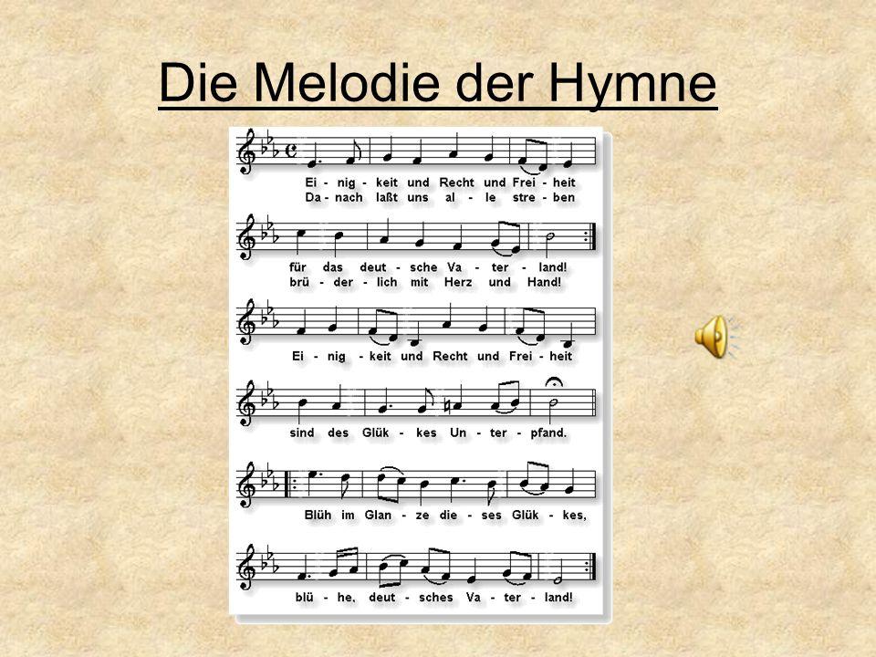 Joseph Haydn (1732-1809) komponierte die Melodie im Jahre 1797.