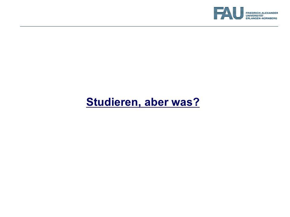 Studieren, aber was?