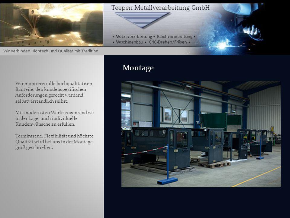 Maschinenpark: 1 x dynamische Auswuchtmaschine (horizontal) Für Teile mit bis zu 3000 mm Länge und 1000 mm Durchmesser 1 x dynamische Auswuchtmaschine