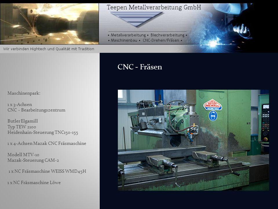Maschinenpark: 2 x Spinner TC65 CNC-Universaldrehmaschine Siemens-Steuerung Sinumerik Shop Turn 810D 1 x Gildemeister NEFCT40 CNC- Universaldrehmaschi
