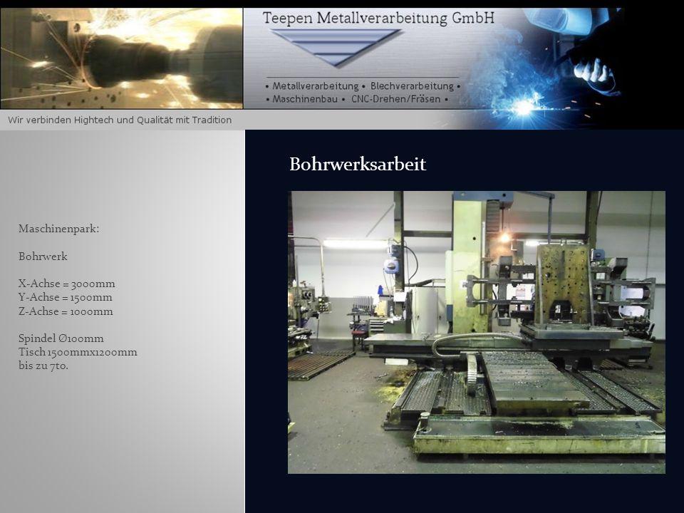 Maschinenpark: 1 x 3-Achsen CNC - Bearbeitungszentrum Butler Elgamill Typ TEW 2100 Heidenhain-Steuerung TNC150-155 1 x 4-Achsen Mazak CNC Fräsmaschine