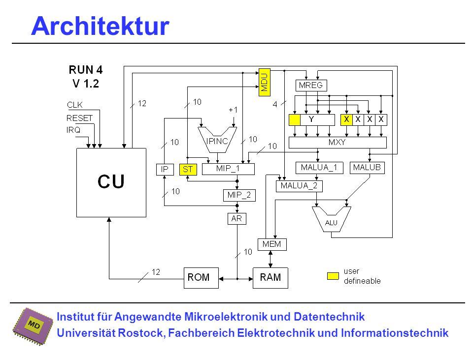 Institut für Angewandte Mikroelektronik und Datentechnik Universität Rostock, Fachbereich Elektrotechnik und Informationstechnik Architektur
