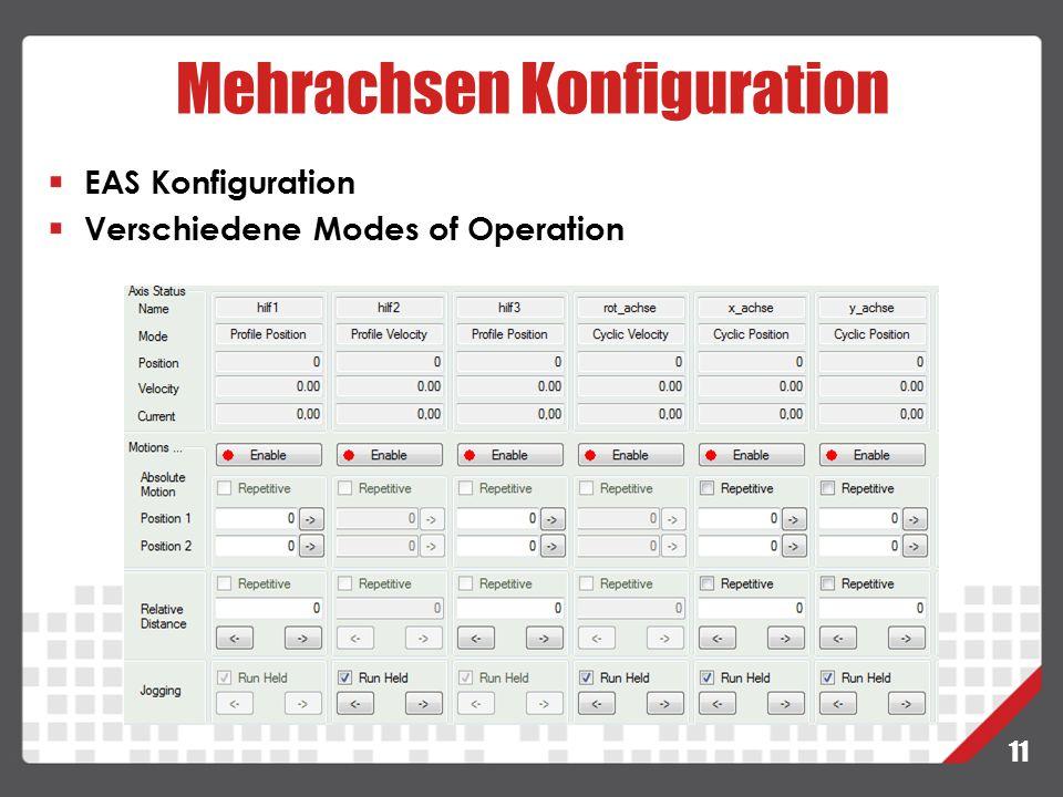 Mehrachsen Konfiguration 11 EAS Konfiguration Verschiedene Modes of Operation