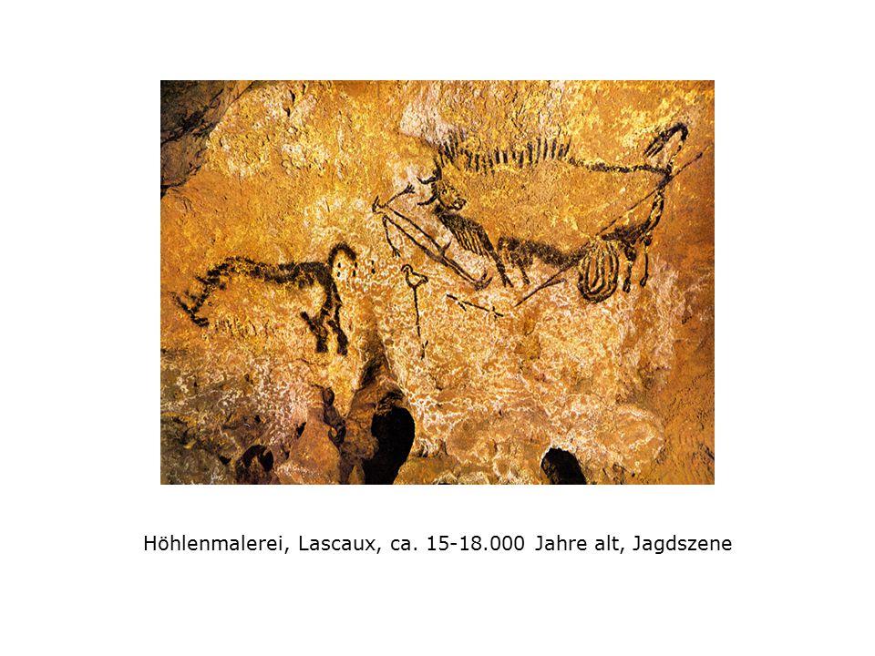 Höhlenmalerei, Lascaux, ca. 15-18.000 Jahre alt, Jagdszene