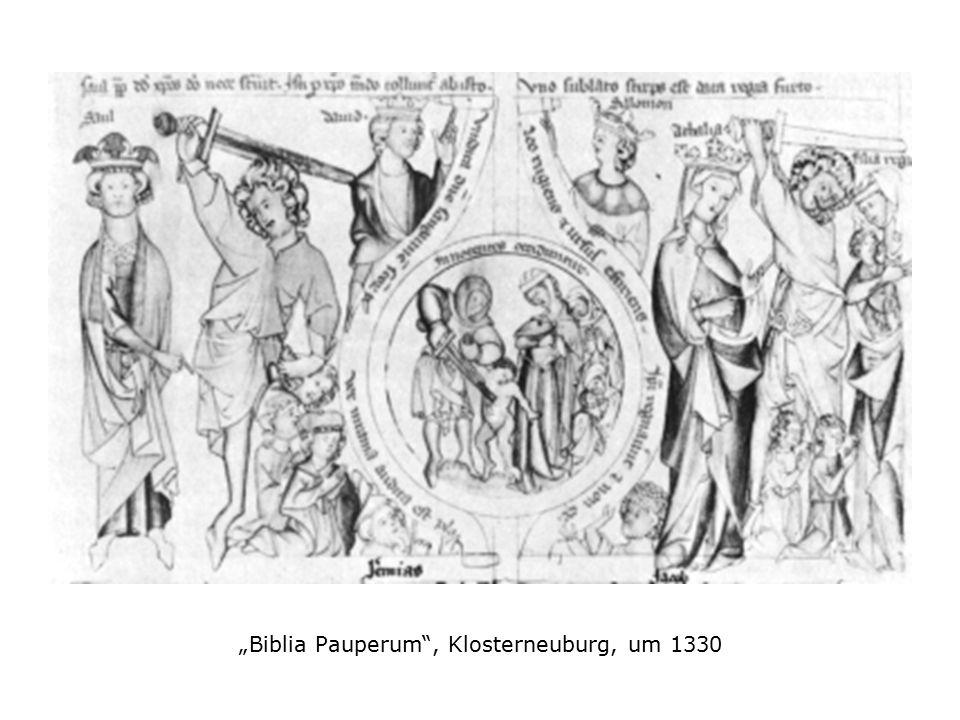 """Biblia Pauperum , Klosterneuburg, um 1330"