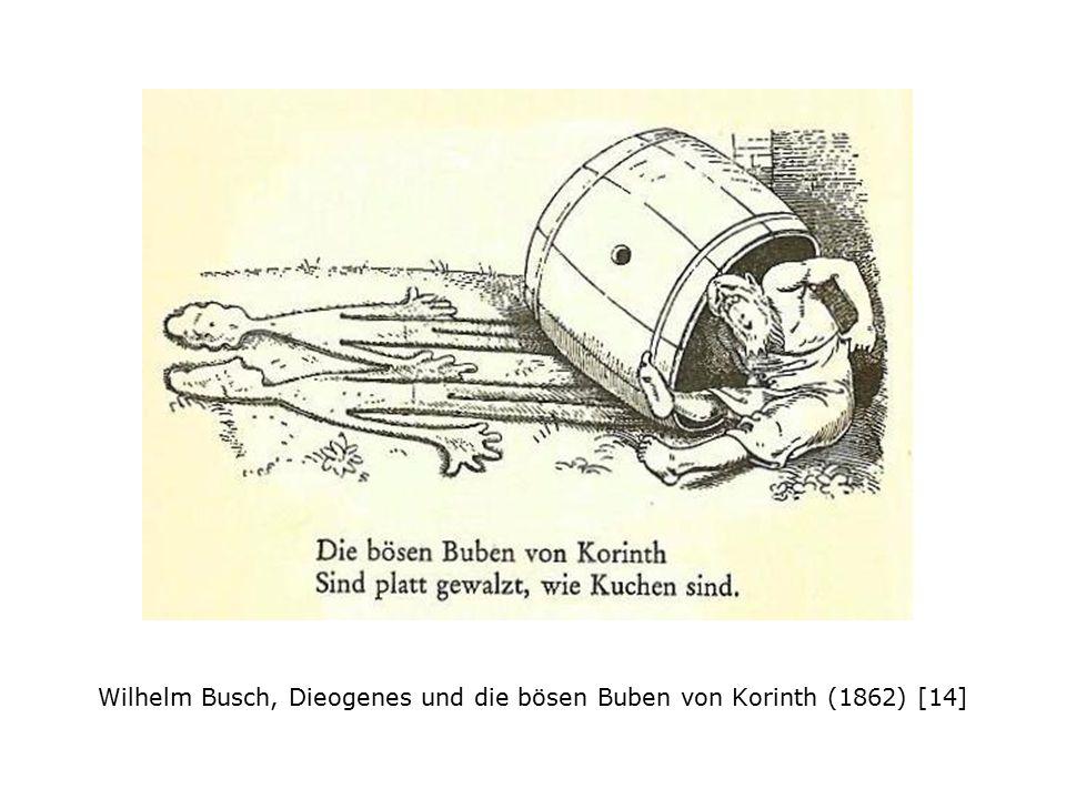 Wilhelm Busch, Dieogenes und die bösen Buben von Korinth (1862) [14]