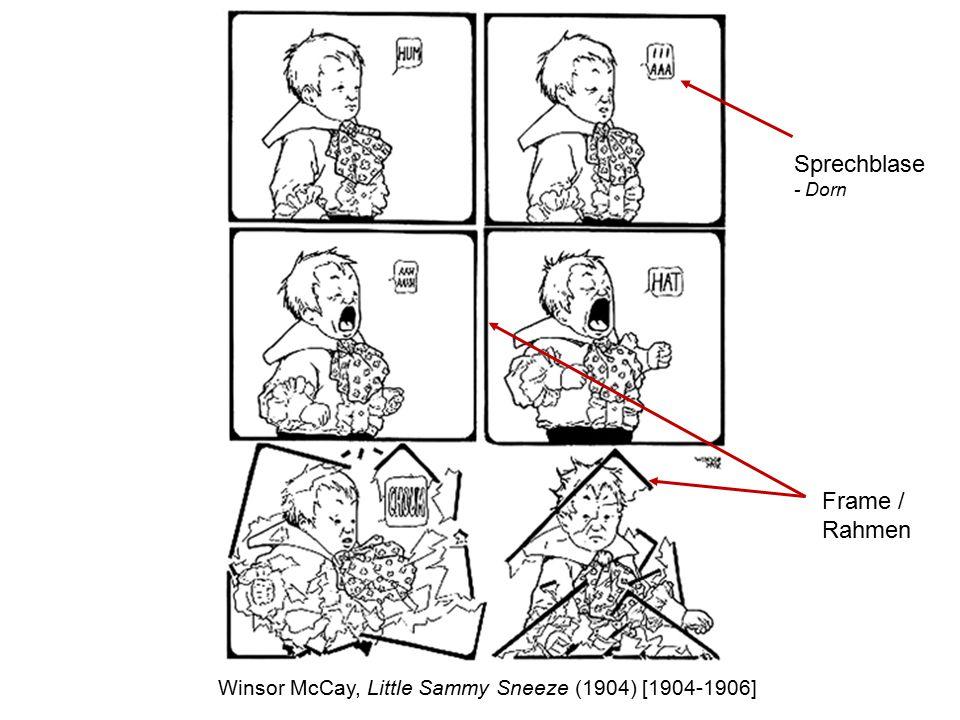 Frame / Rahmen Winsor McCay, Little Sammy Sneeze (1904) [1904-1906] Sprechblase - Dorn