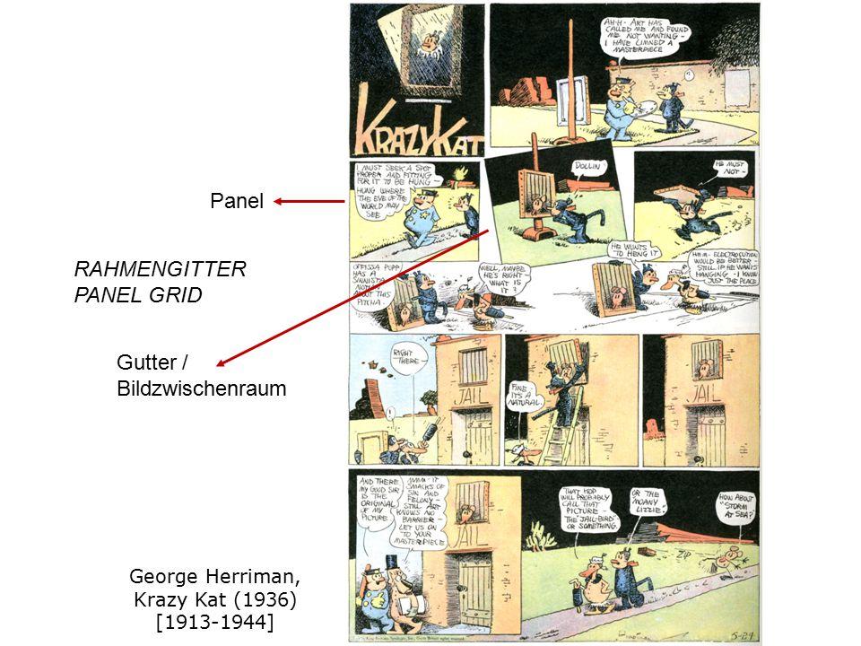 George Herriman, Krazy Kat (1936) [1913-1944] RAHMENGITTER PANEL GRID Gutter / Bildzwischenraum Panel