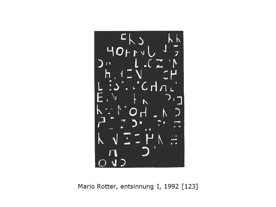 Mario Rotter, entsinnung I, 1992 [123]