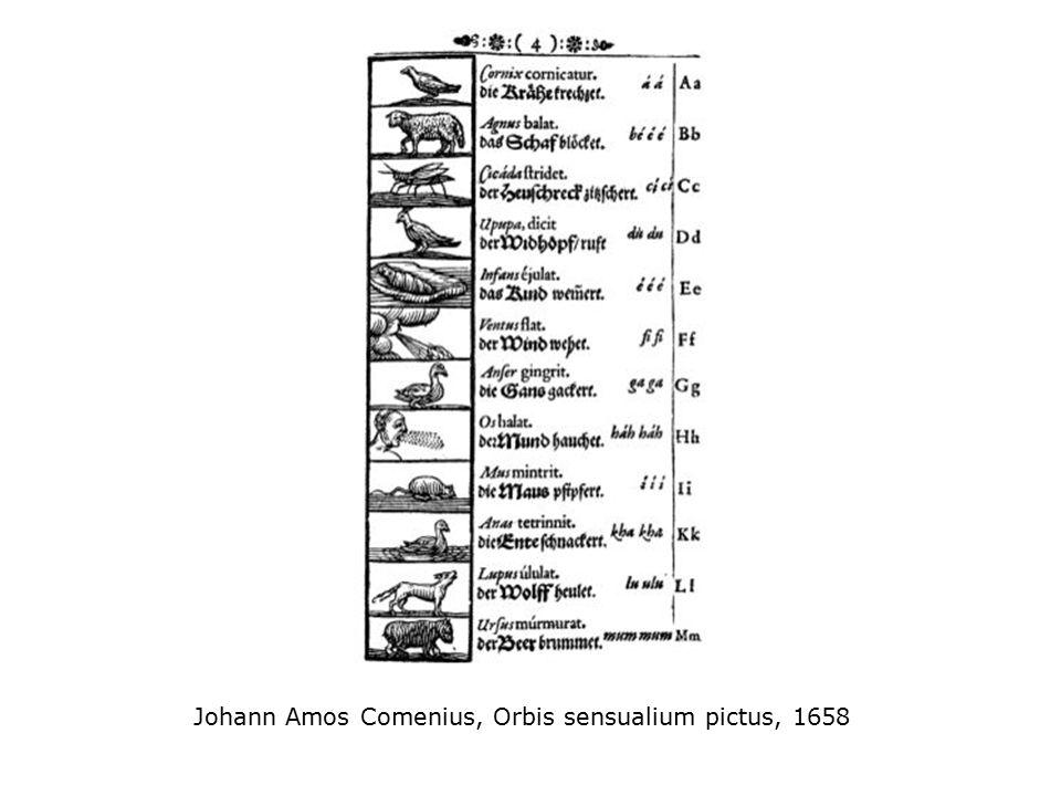Johann Amos Comenius, Orbis sensualium pictus, 1658
