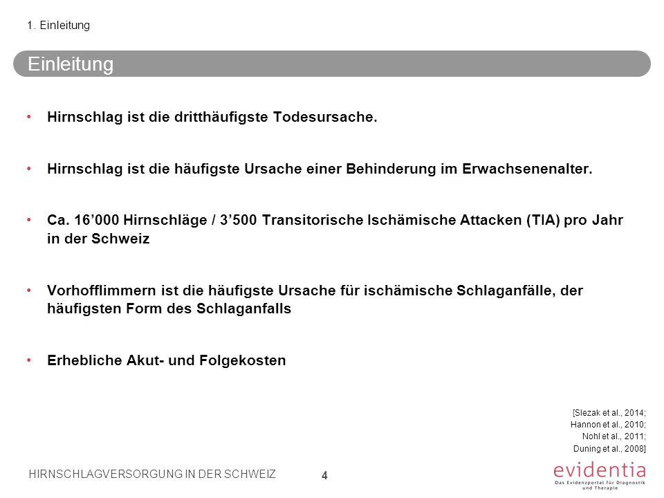 Schweizer Kriterien für Stroke Units: Kennzahlen/ Indikatoren 15 Nr.Bewertungskriterium G1 Die Stroke Unit überwacht die Qualität der Arbeit anhand des Data Sets der SFCNS für Stroke Centers/Units.