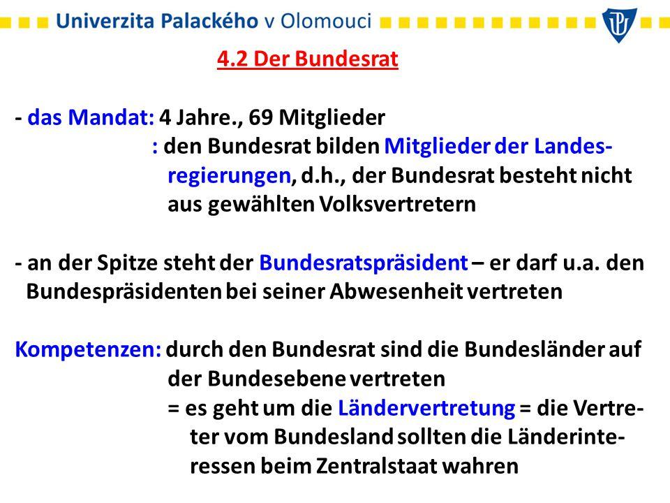 : Beteiligung an der Gesetzgebung des Bundes (zusammen mit dem Bundestag) : Kontrollorgan für die Legislative und Exekutive des Bundes