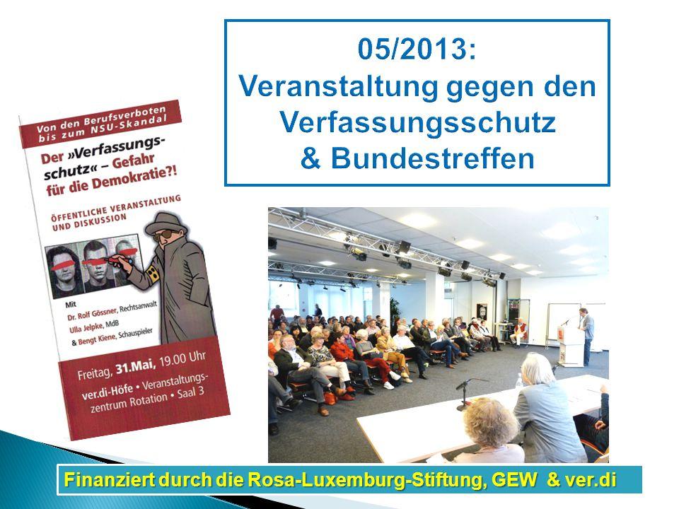 Finanziert durch die Rosa-Luxemburg-Stiftung, GEW & ver.di