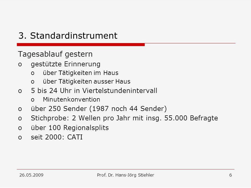 26.05.2009Prof.Dr. Hans-Jörg Stiehler6 3.