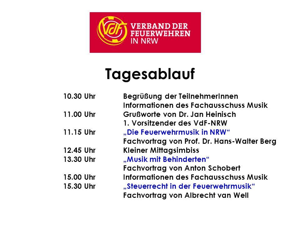 Angebot der Feuerwehrmusik auf der Internetseite des VdF www.vdf-nrw.de