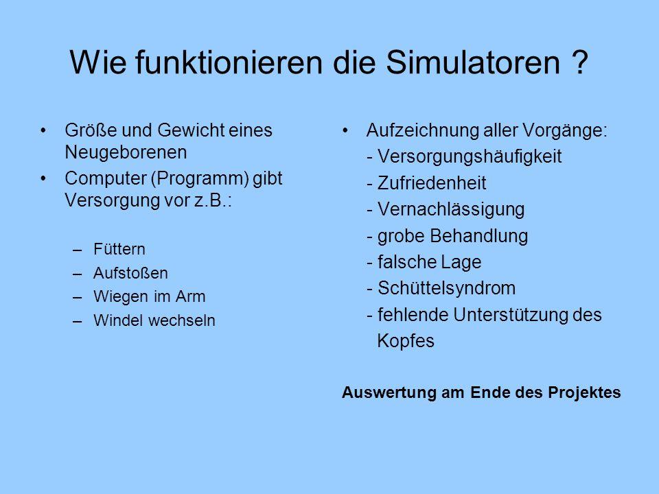 Wie funktionieren die Simulatoren .