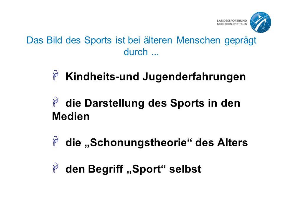 Das Bild des Sports ist bei älteren Menschen geprägt durch...