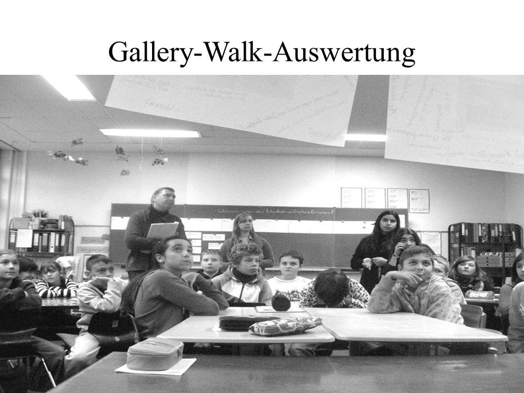 Gallery-Walk-Auswertung