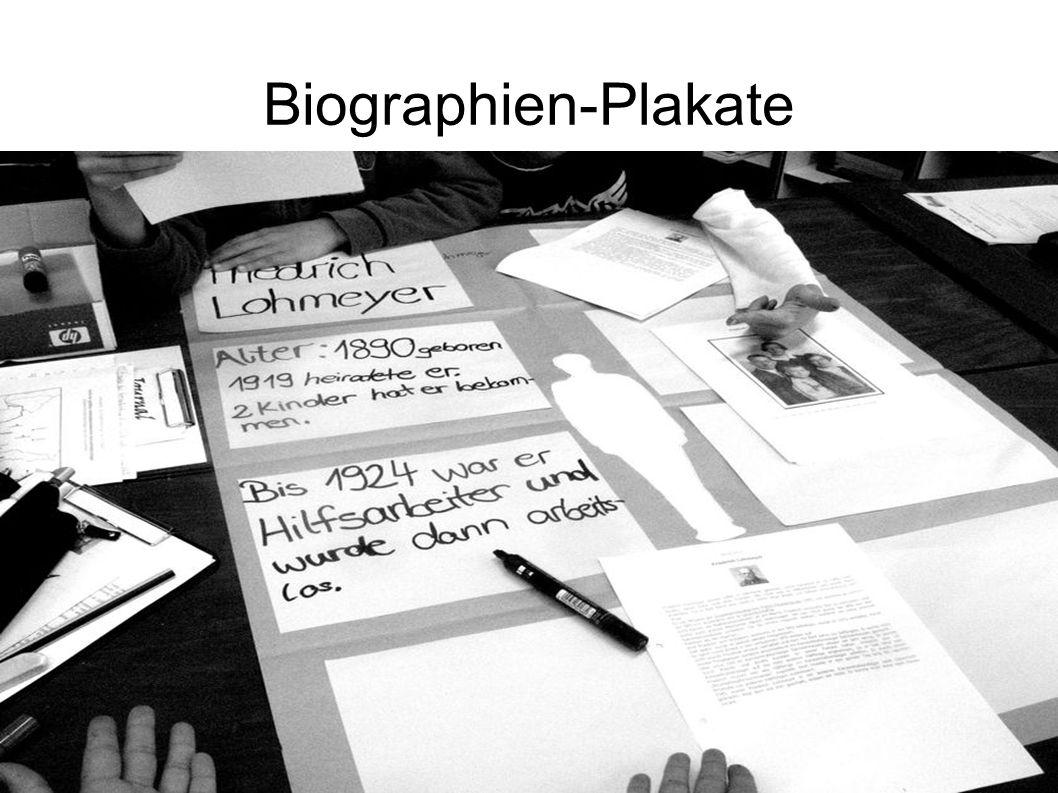 Biographien-Plakate