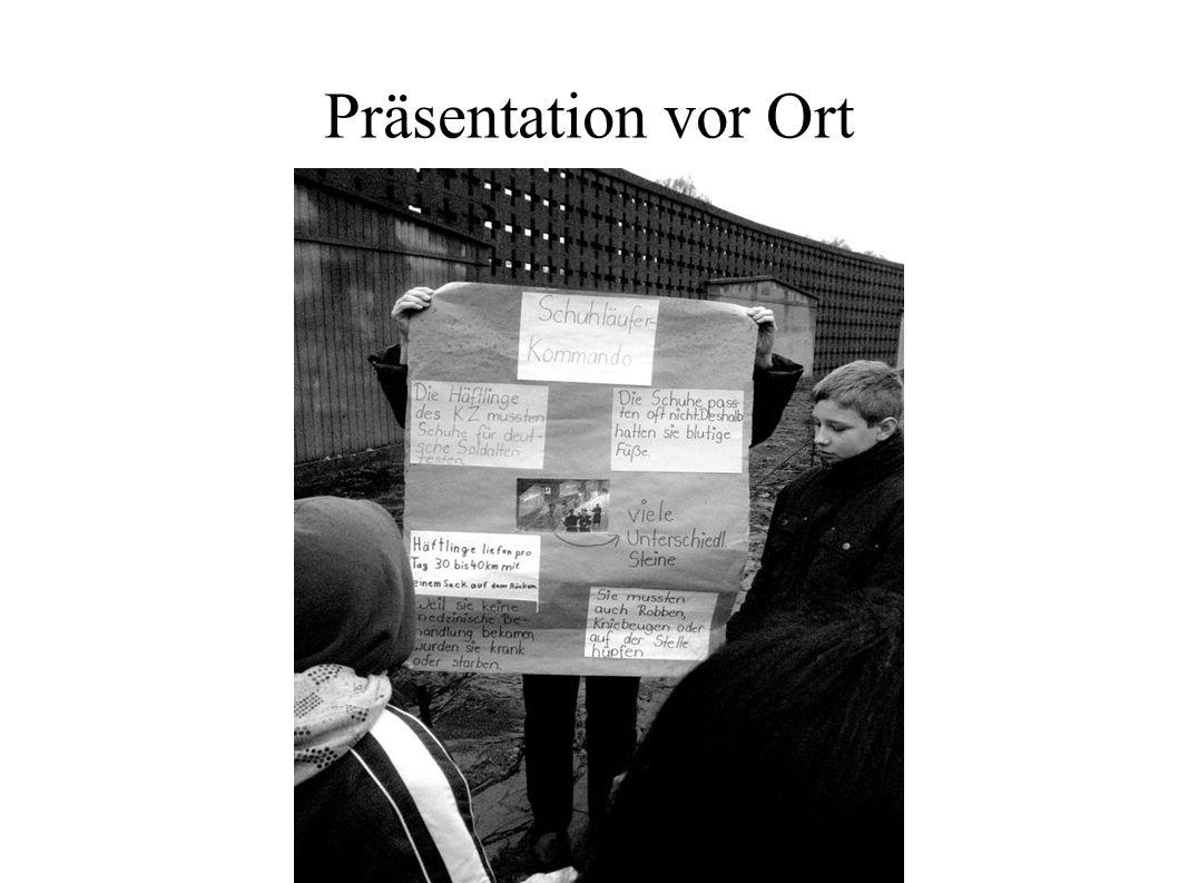 Präsentation vor Ort