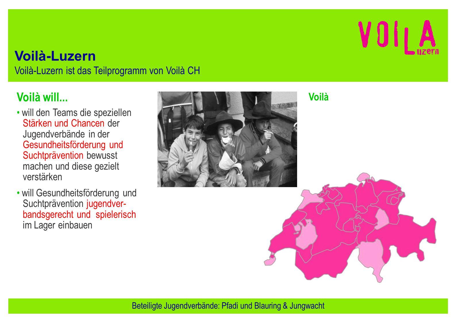 Voilà will... will den Teams die speziellen Stärken und Chancen der Jugendverbände in der Gesundheitsförderung und Suchtprävention bewusst machen und