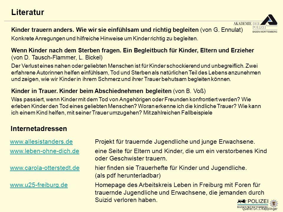 www.allesistanders.dewww.allesistanders.de Projekt für trauernde Jugendliche und junge Erwachsene. www.leben-ohne-dich.dewww.leben-ohne-dich.deeine Se