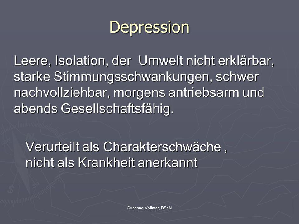 Susanne Vollmer, BScN Schizophrenien Ganze Gruppe von Krankheiten die zu den endogenen Psychosen gehören Sammelbegriff für psychische Erkrankungen mit: -Realitätsverlust -Trugwahrnehmungen -Wahnvorstellungen -Bewusstseinsstörungen -Störungen des Denkens -Störungen der Gefühlswelt