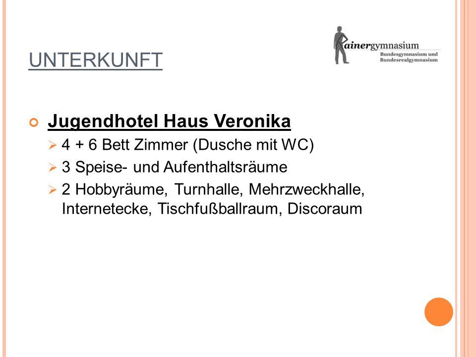 TAGESABLAUF Wecken (ca.07:30) reichhaltiges Frühstücksbuffet (08:00) 1.