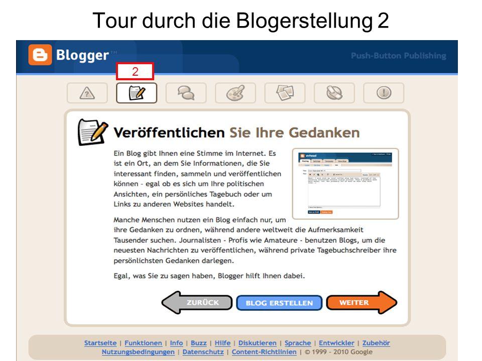Tour durch die Blogerstellung 2 2