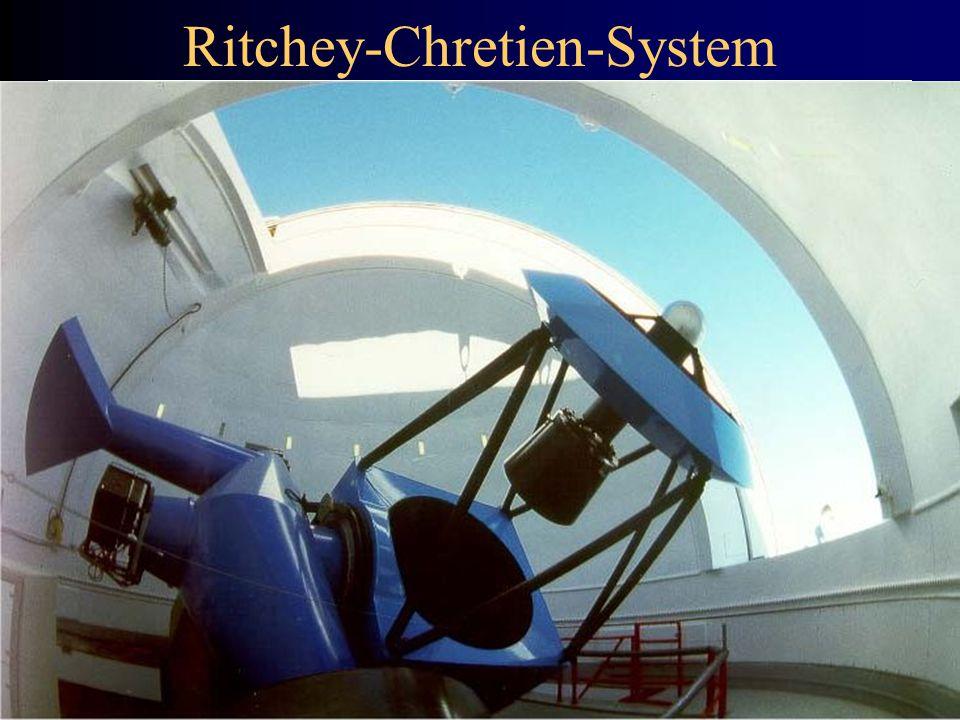 Ritchey-Chretien-System Teleskopdaten: Durchmesser: 1,52 Meter Cassegrain Fokus: f = 12,28 Meter Öffnungsverhältnis: 1:8,06 CCD-Daten: Tektronics 1024