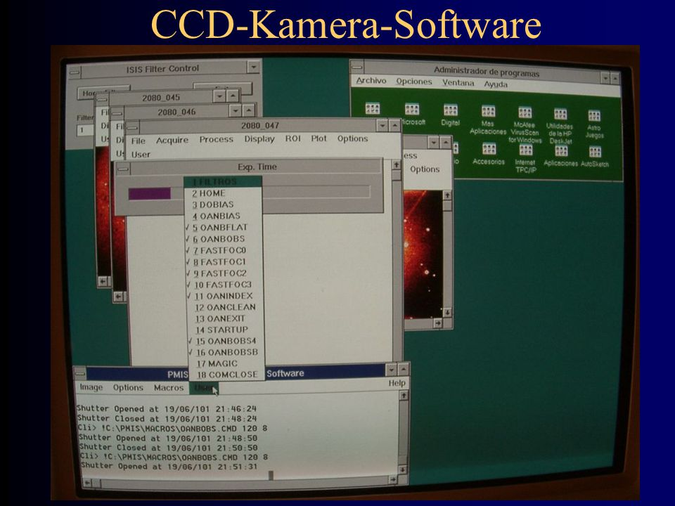 CCD-Kamera-Software