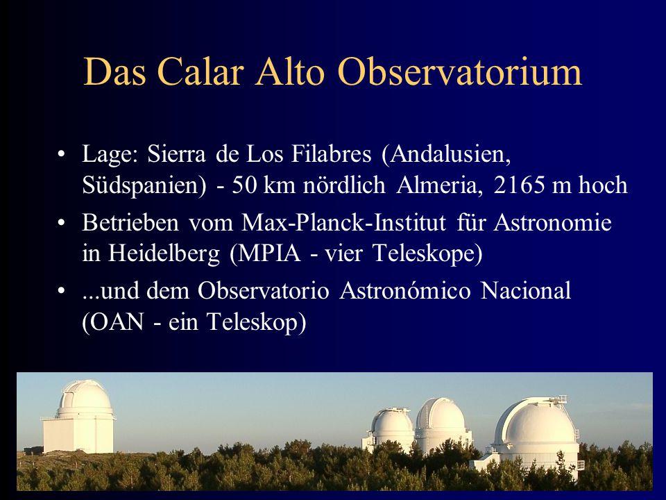 Das Calar Alto Observatorium Lage: Sierra de Los Filabres (Andalusien, Südspanien) - 50 km nördlich Almeria, 2165 m hoch Betrieben vom Max-Planck-Inst