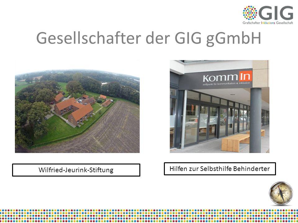 Gesellschafter der GIG gGmbH Wilfried-Jeurink-Stiftung Hilfen zur Selbsthilfe Behinderter