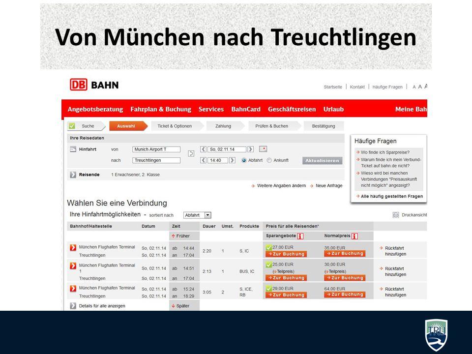 Von München nach Treuchtlingen