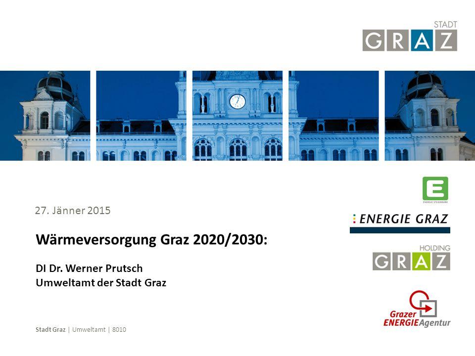 Stadt Graz | Umweltamt | 8010 Wärmeversorgung Graz 2020/2030: DI Dr. Werner Prutsch Umweltamt der Stadt Graz 27. Jänner 2015