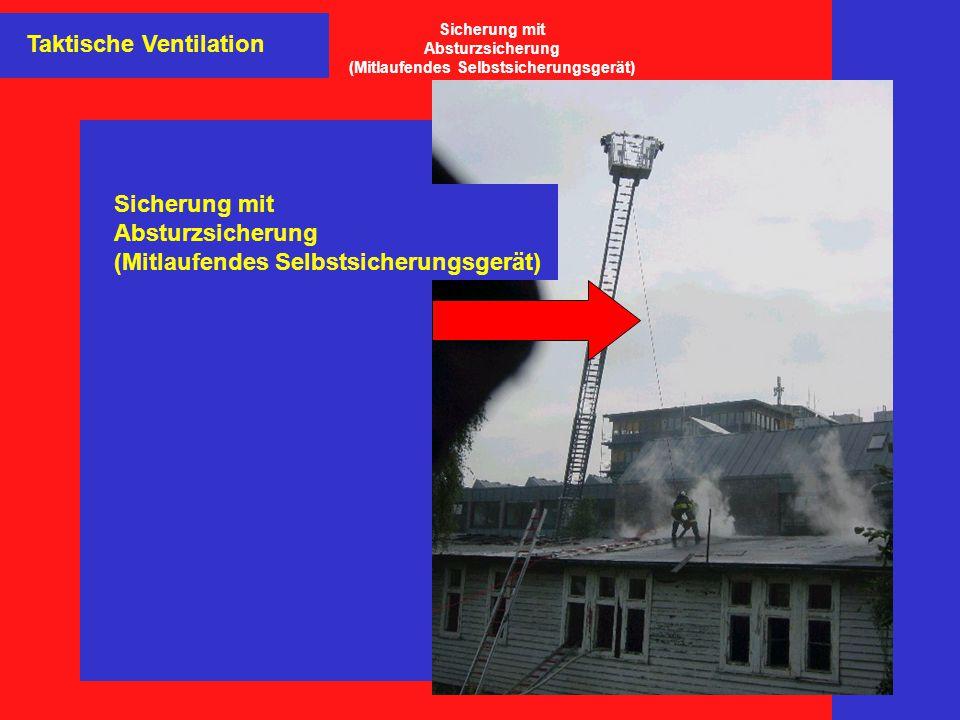 Taktische Ventilation Sicherung mit Absturzsicherung (Mitlaufendes Selbstsicherungsgerät) Sicherung mit Absturzsicherung (Mitlaufendes Selbstsicherung