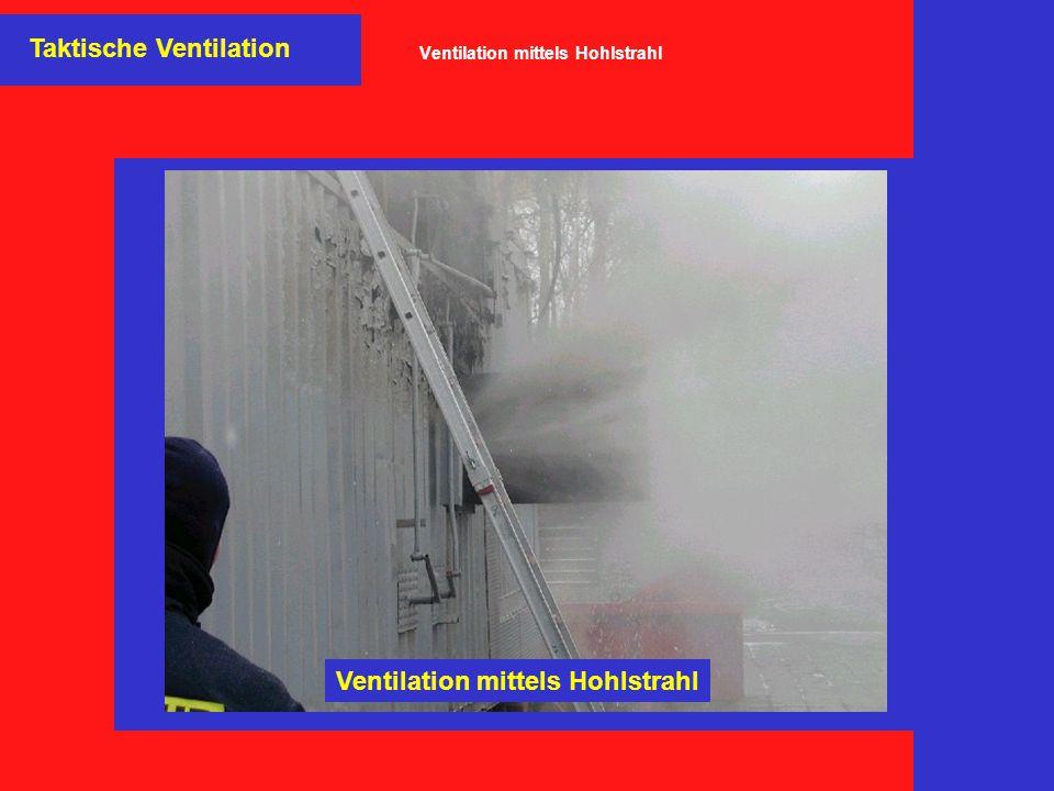Taktische Ventilation Ventilation mittels Hohlstrahl