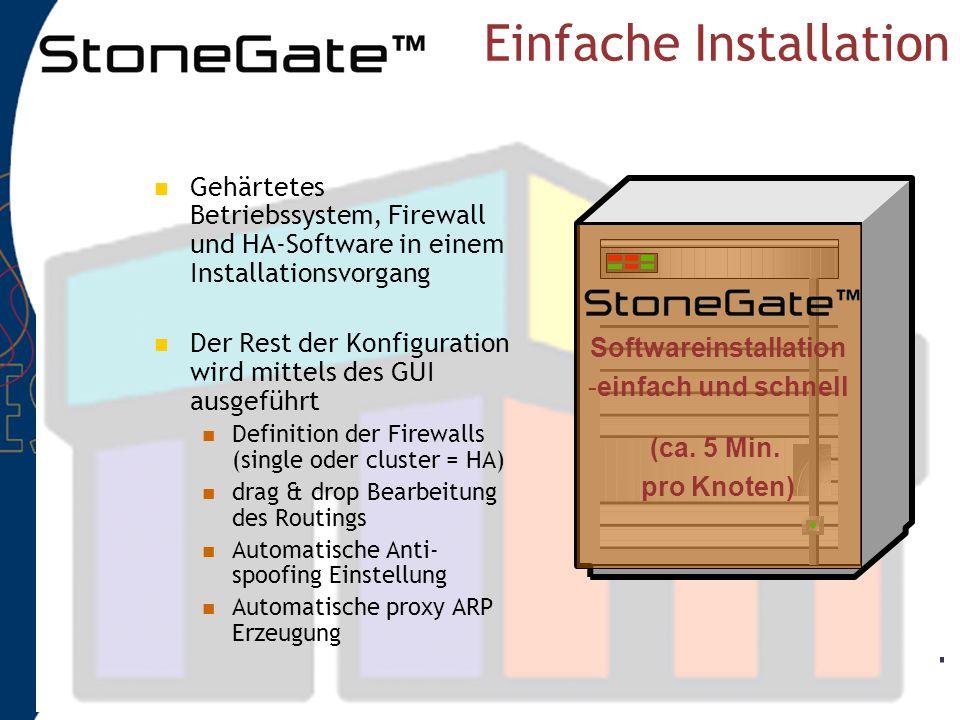 Management system Database Management server Komponenten GUI client Engine 2Engine 1Engine 3 Firewall cluster Einstellung: integer, authentisch, gehei
